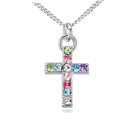 emannashop.com - Cross Pendant With Czech Crystal