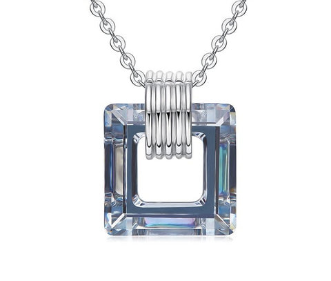 emannashop.com - Square Pendant Embellished With Crystals From Swarovski