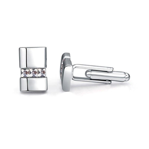 emannashop.com - Square Crystal Cufflinks With Crystals From Swarovski Elements (5 Variants)