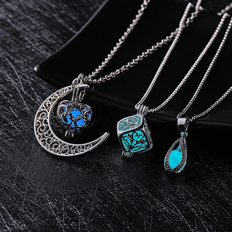 emannashop.com - Glow In The Dark Pendant Necklace