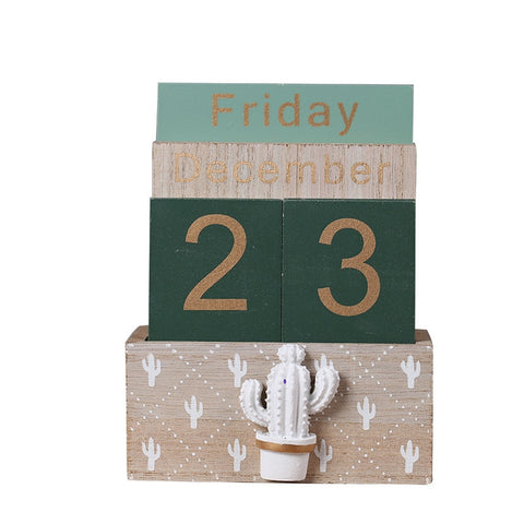 emannashop.com - Unique Rustic Wood Calendar