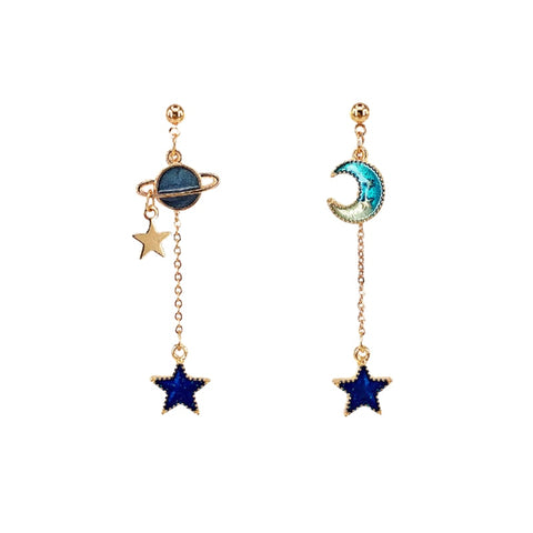 emannashop.com - Korean Design 4 - Trendy Star Drop Earrings (9 Variants)