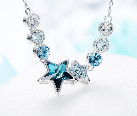 emannashop.com - Star Necklace Embellished With Crystals From Swarovski