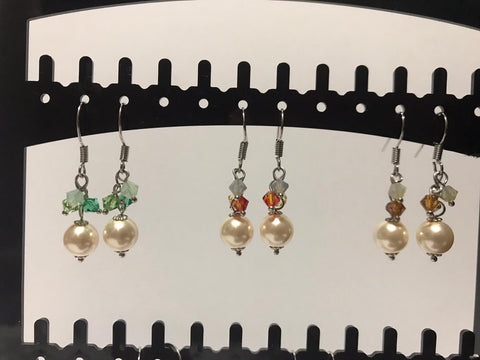 Swarovski Pearl Drop Earrings (Assorted Variations)