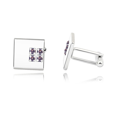 emannashop.com - 4 Gems Cufflinks With Crystals From Swarovski Elements
