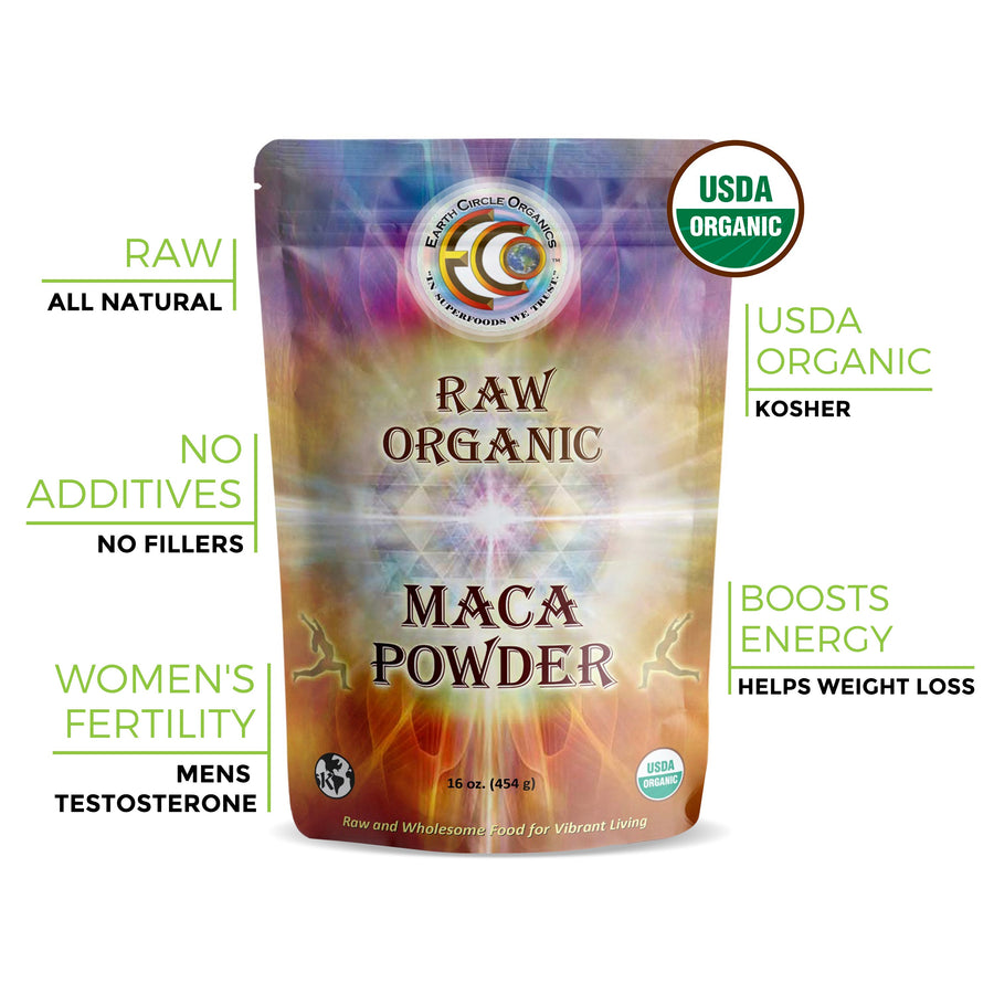 Maca Powder | USDA Certified Organic | Kosher | Pure & Raw - 16oz