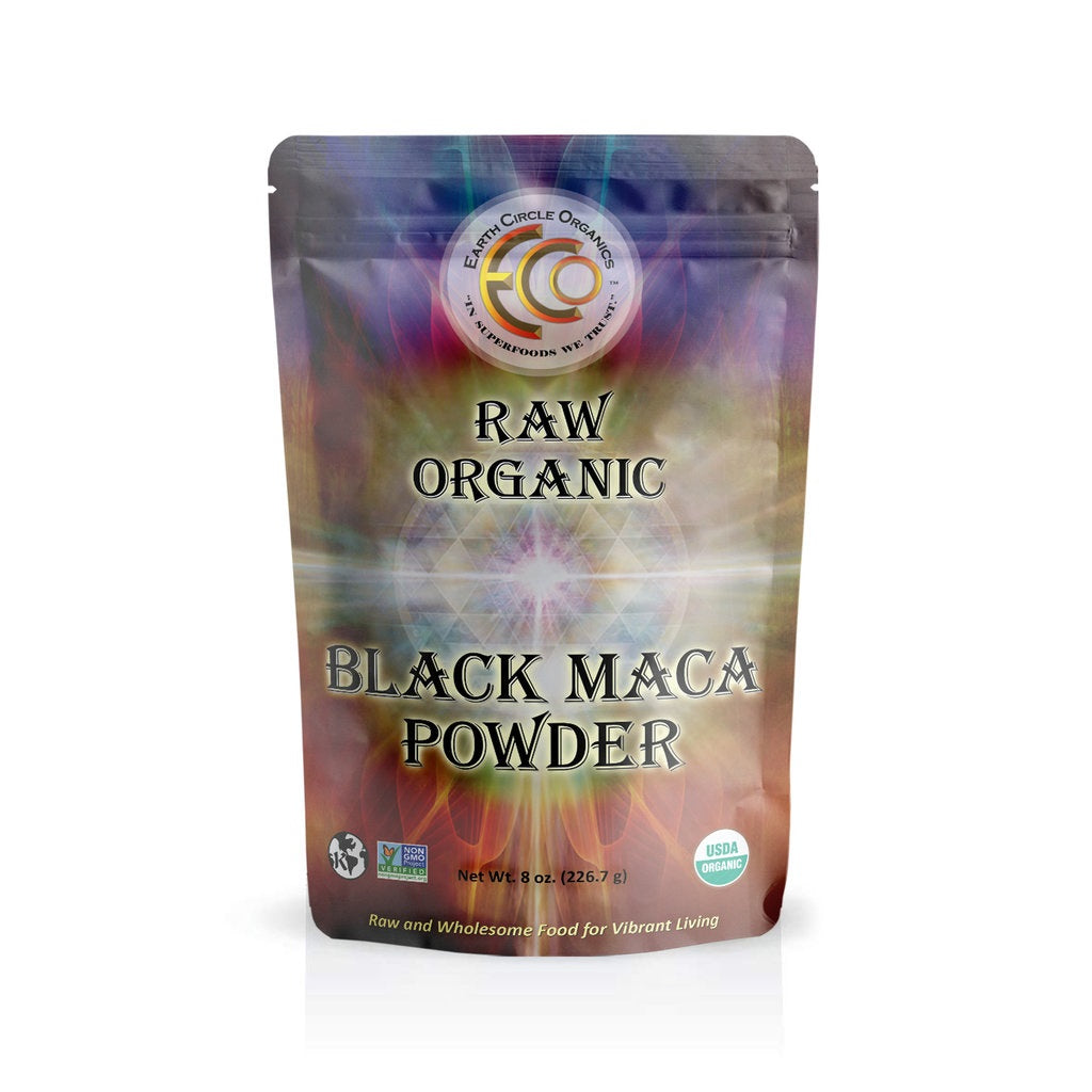 Black Maca Powder | USDA Certified Organic | Kosher | Pure & Raw - 8oz