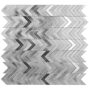 Decopus Peel and Stick Metal Tile Backsplash for Kitchen, Bathroom