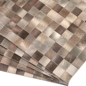 Decopus Metal Tile Peel and Stick Backsplash (MS25 Copper Brown Muted-Gold 12in x 12in. 4mm thick)