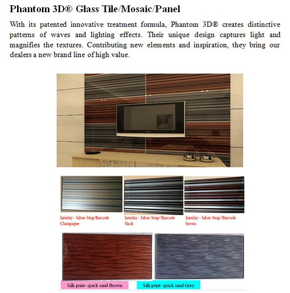 Phantom3d Glass Tile
