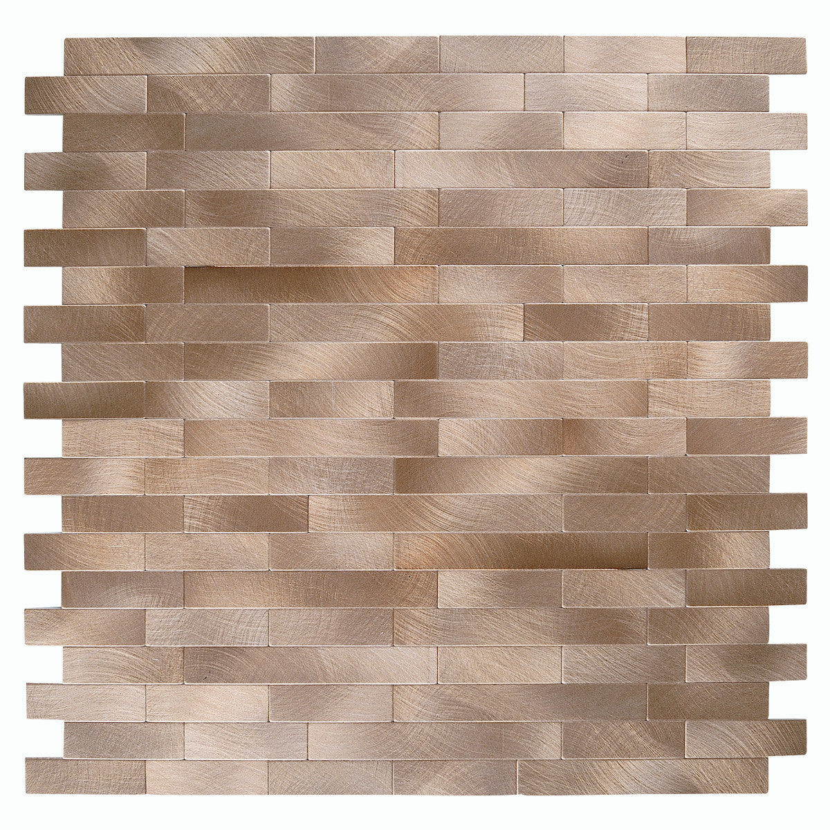 Decopus Peel and Stick Metal Tile Backsplash (LNG15 Copper Matte 5pc/Pack, 12in x 12in, 1.6 in Thick) for Kitchen Wall, Bathroom, Stick On Metal Wall Tile for, Self Adhesive Metal Tile