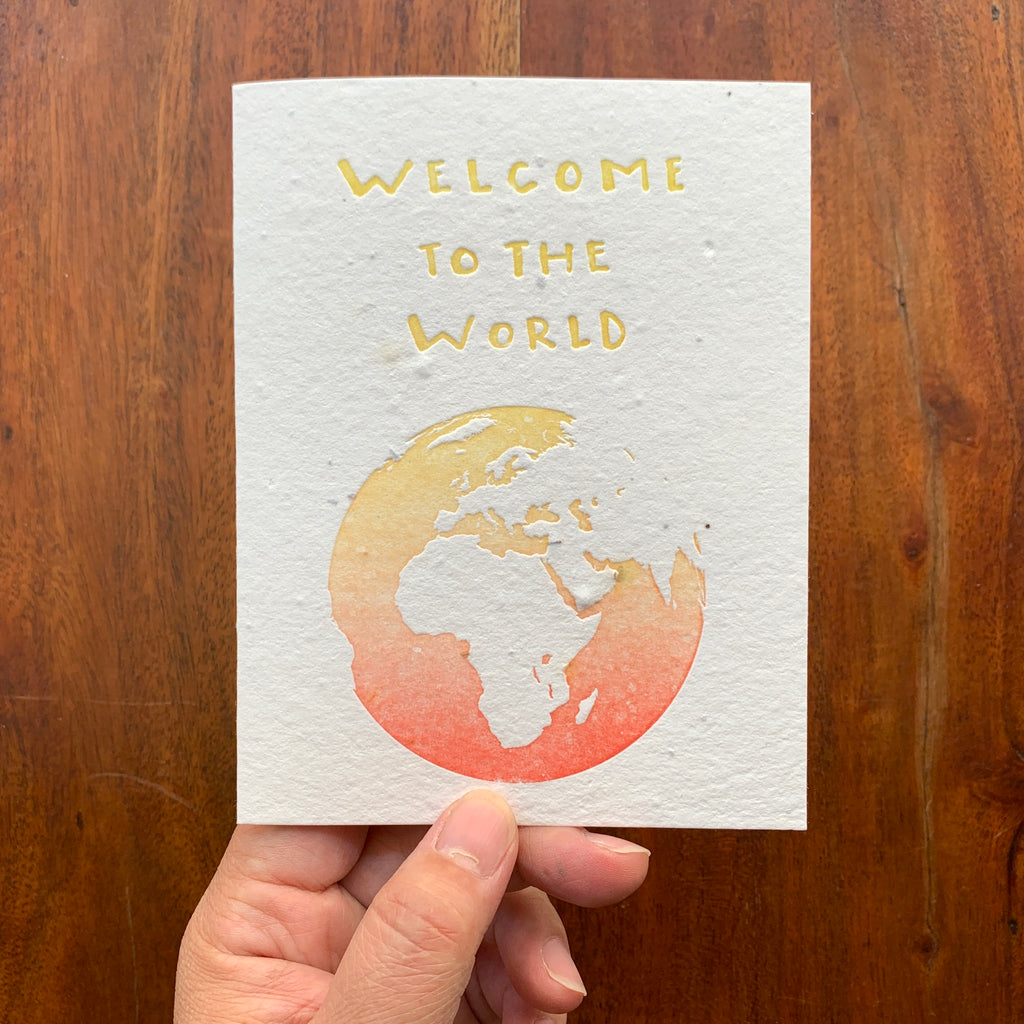 WELCOME BABY plantable card