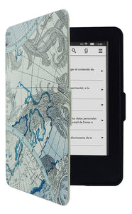 Kindle 6h / 7th Gen Map Pattern Case
