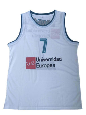 Luka Doncic #7 Madrid Basketball Jersey Euroleague Dueweer Men Stitched