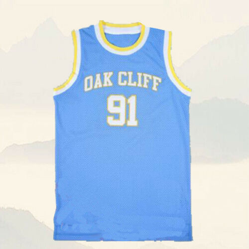 Rodman #91 South Oak Cliff High School Basketball Jersey-Blue