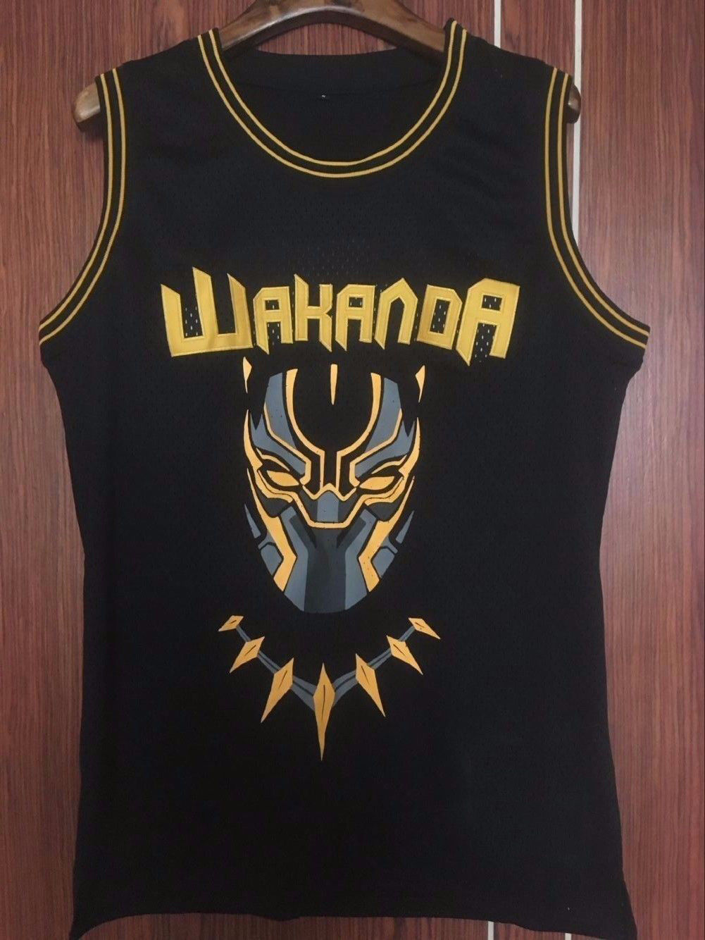 Black Panther Movie Wakanda T'Challa Killmonger #2 Basketball Jersey