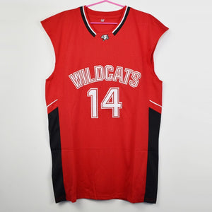 Zac Efron #14 Troy Bolton East High School Wildcats Basketball Jersey