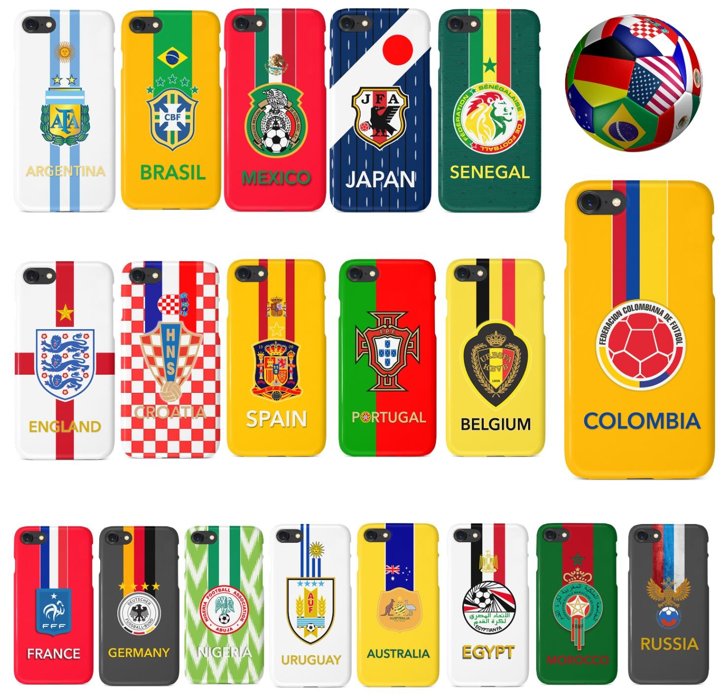 Fifa 2018 World Cup Countries iPhone Case – Spot of Offers