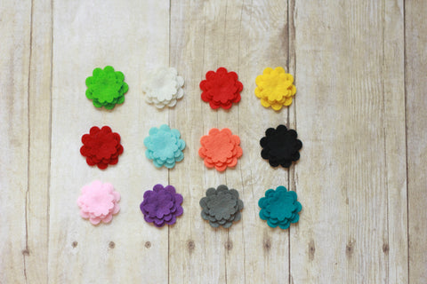 Felt Flowers (pack of 3)