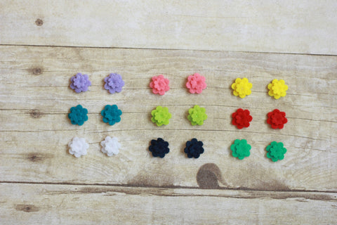 Felt Earrings (3 pairs)