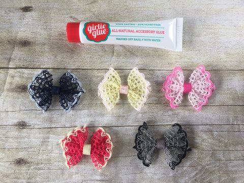 NEW Dainty Lace bows