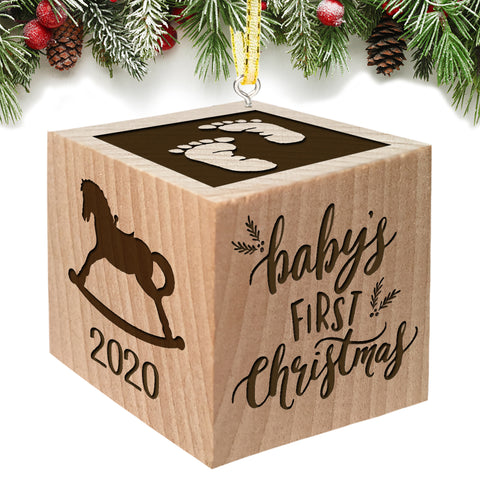 Christmas Ornament Block 2020 (Baby Feet)