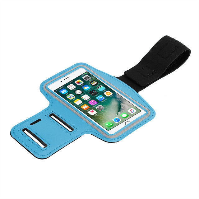 Powstro Waterproof Gym Sports Running For iPhone 7 plus 6s plus 6 smartphones case Sport Arm Phone Holder