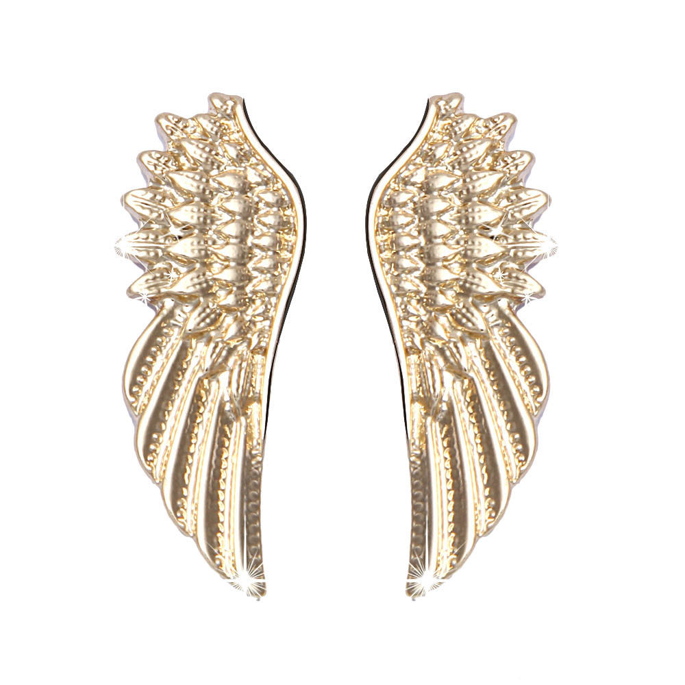 Punk Wings Style Collar Pin Brooch Gold