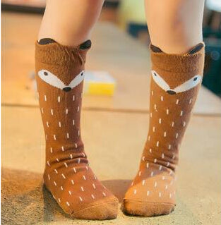 2018 Cartoon Cute Kids Socks Bear Animal Baby Cotton Socks Knee High Long LegWarmers Cute Socks Boy Girl Children socks 0-6 Y
