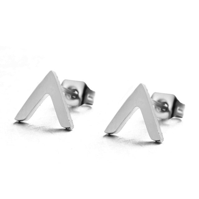 Multiple Silver Stainless Steel Cute Stud Earrings for Women Girls 2018 Fashion Minimalist Earrings Carnations Jewlery Gifts