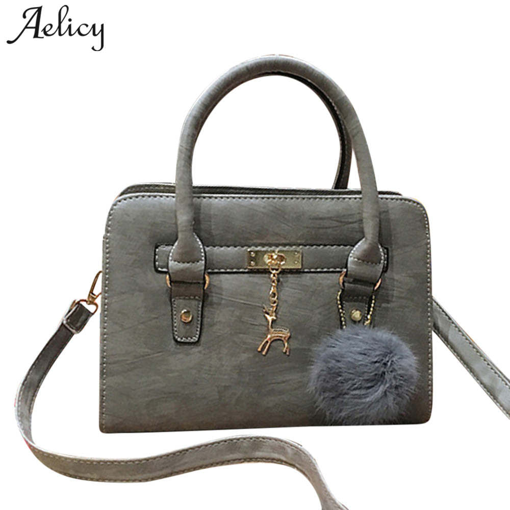 Aelicy Luxury Bags Handbags Women Famous Brands PU Leather Fashion Top-Handle Bags Solid Crossbody Bags for Women sac a main
