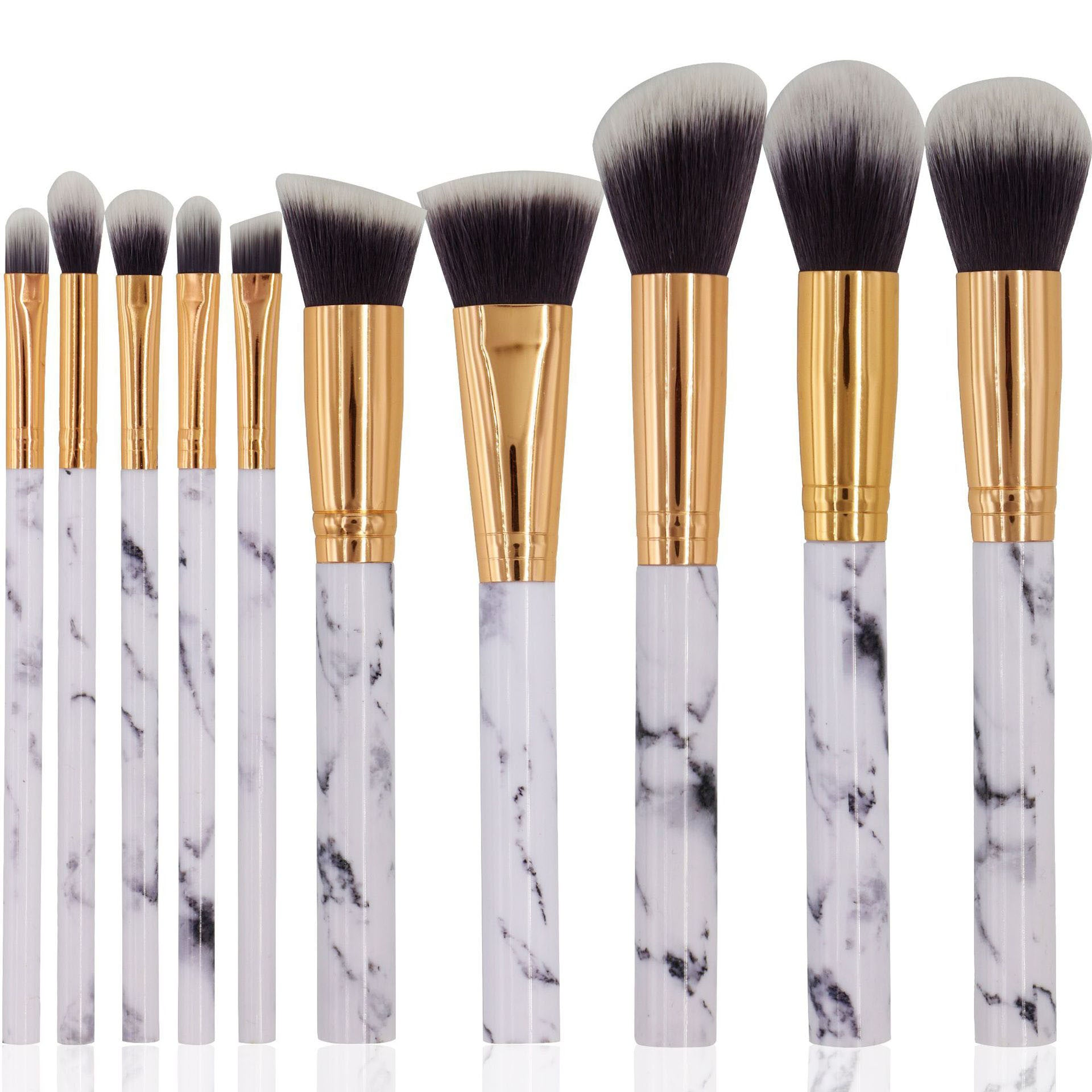 Makeup Brushes 10 Pieces, Makeup Brush Set, Face Eyeliner Blush Contour Foundation Cosmetic Brushes for Powder Liquid Cream