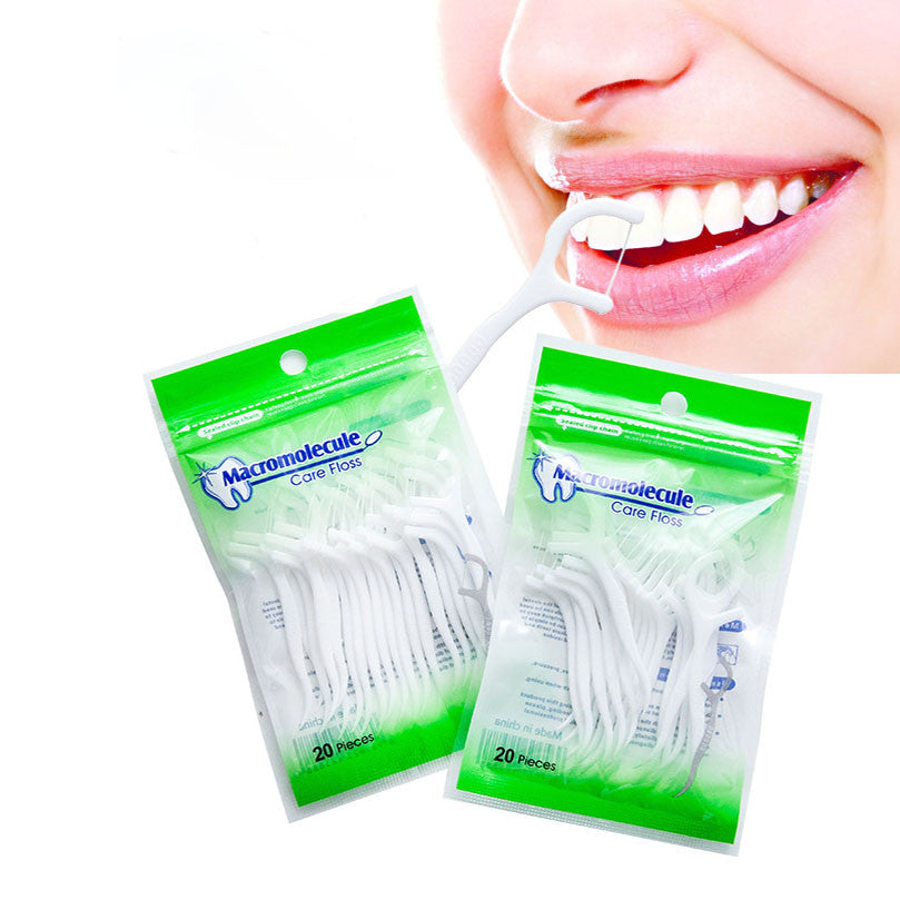 Dental Floss, 20 Pieces, Interdental Brush, Dental Floss, Teeth Stick, Tooth Picks