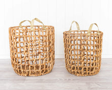 Load image into Gallery viewer, Basket Set - Ava - Water Hyacinth - Set of 2