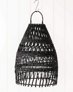 Woven light shade 'Black'