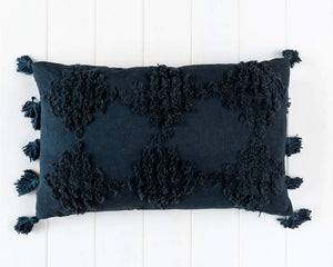 Textured Cushion 'Charcoal' 50 x 30