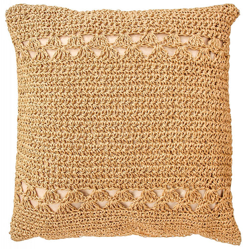 Woven crochet cushion – Natural  41x41