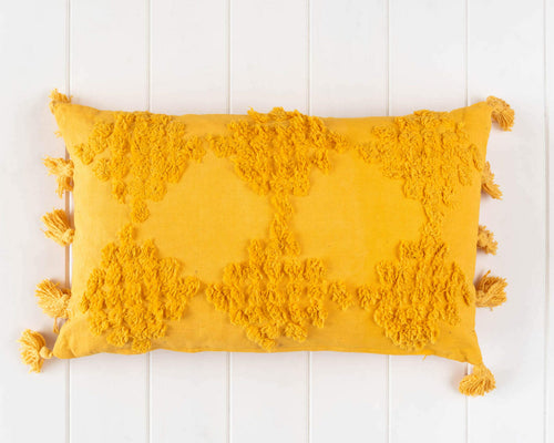 Textured Cushion 'Gold' 50 x 30