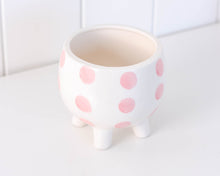 Load image into Gallery viewer, Planter - Pink Spots - 11x10