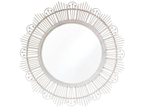 Batu Mirror - White-wash 100x100