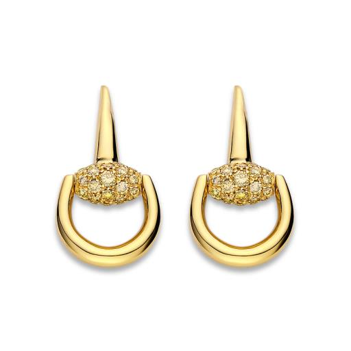 GUCCI HORSEBIT DIAMOND EARRINGS YBD35702900100U