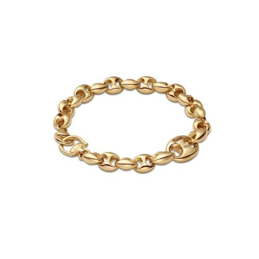 GUCCI HORSEBIT MARINA CHAIN 18CT YELLOW GOLD BRACELET YBA391027001017