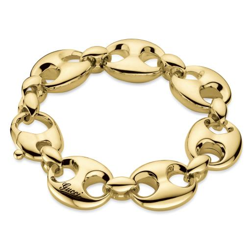 GUCCI MARINA LINK 18CT YELLOW GOLD BRACELET YBA341282001018