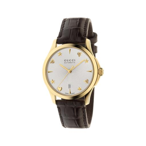 GUCCI G-TIMELESS AUTOMATIC 38MM YELLOW GOLD PVD WATCH YA126470