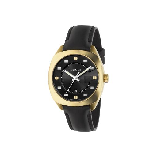 GUCCI GG2570 36MM LADIES YELLOW GOLD PVD STRAP WATCH YA142408