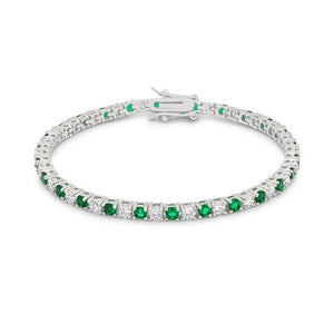 Evergreen Tennis Bracelet - Jewelry Xoxo