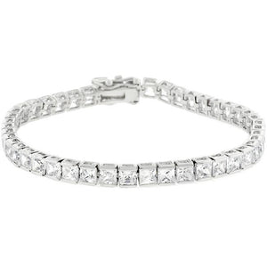 Clear Cubic Zirconia Tennis Bracelet - Jewelry Xoxo