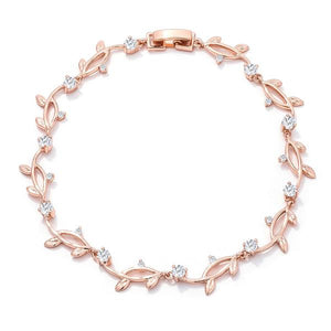 Rose Gold Vine Bracelet - Jewelry Xoxo