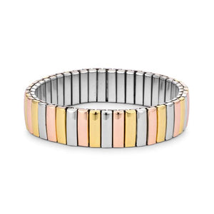 Tritone 14mm Stainless Steel Stretch Bracelet - Jewelry Xoxo