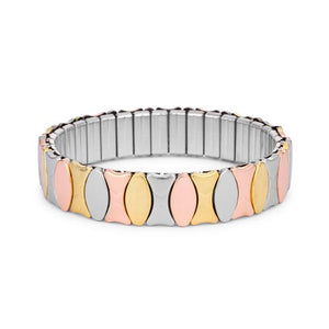 Tritone 13mm Stainless Steel Stretch Bracelet - Jewelry Xoxo